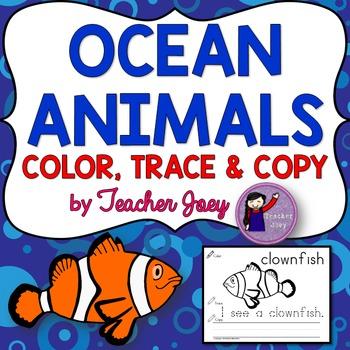 Ocean Animals Coloring Sheets