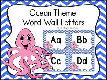 Ocean/Octopus Word Wall Letters Dollar Deal