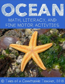 Ocean Pack: Math, Literacy, and Fine Motor Activities for Pre-K, TK, and K