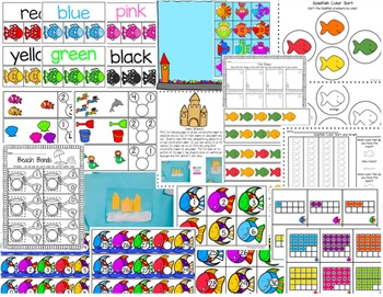 Ocean Pack Math and Literacy Activities for Pre-K, and K