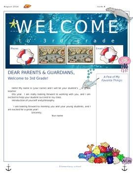 ocean parent welcome letter
