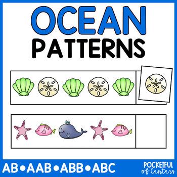 Ocean Pattern Cards {AB, ABC, ABB, AAB}