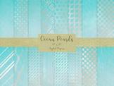 """Ocean Pearls Digital Papers, 12 x 12"""" Printable Files, Ins"""