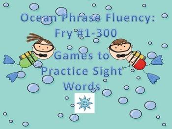 Ocean Phrase Fluency Game Bundle: Fry #1-300