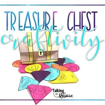 Ocean or Pirate Treasure Chest Language Craftivity