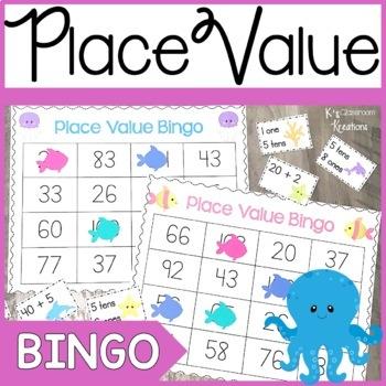 Place Value Bingo Game Ocean Theme