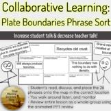 Ocean Plate Boundaries Phrase Sort Collaborative Review Activity w/PPT KEY