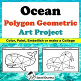 Ocean Polygon, Geometric  Art Project