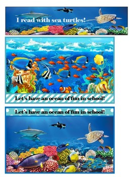 Ocean Postcards, Welcome to School, Bookmark