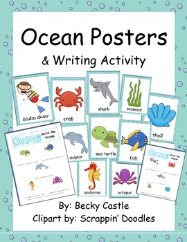 Ocean Posters & Writing Activity