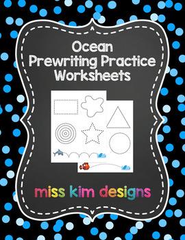Ocean Prewriting Worksheets