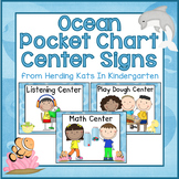 Ocean Pocket Chart Center Cards