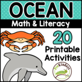 Ocean Theme Printable Math & Literacy Activities Pre-K, Preschool, Kindergarten