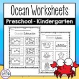 Ocean Printables for Preschool - Kindergarten