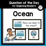 Ocean Question of the Day for Preschool and Kindergarten
