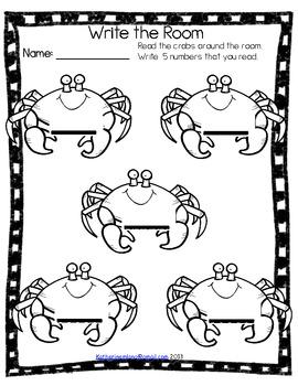 Ocean Read and Write the Room-Kindergarten List