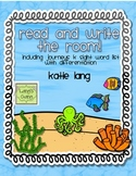 Ocean Read and Write the Room-Kindergarten List