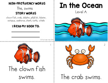 Ocean Guided Reading Level A