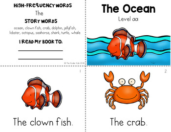 Ocean Guided Reading Level aa
