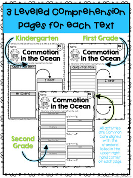 Ocean: Reading Comprehension, Writing and Craftivities