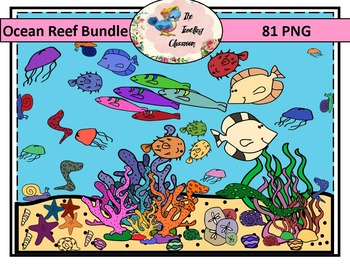 Ocean Reef Bundle Clip Art (Commercial Use)