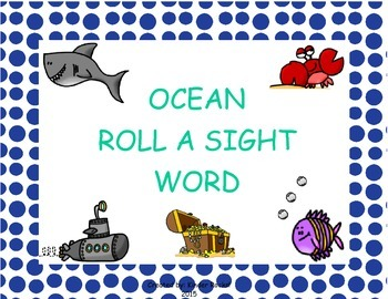 Ocean Roll a Sight Word Game