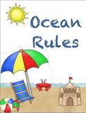 Ocean Rules Sign Print Set