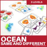 Same & Different Activities   Ocean  