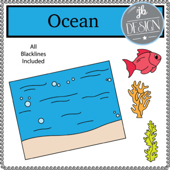 Ocean Scene (JB Design Clip Art for Personal or Commercial Use)
