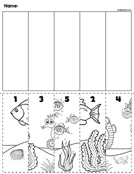Ocean Scene Number Sequence Puzzle