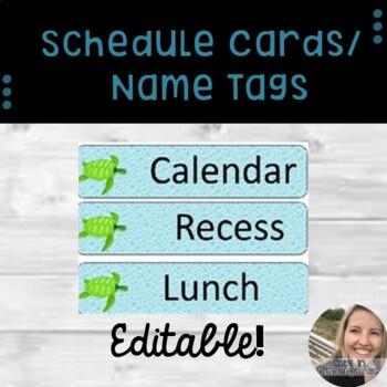 Editable Ocean Schedule Calendar Labels