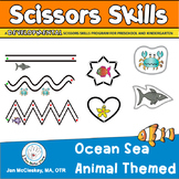 Ocean Sea Animal Scissors Fine Motor Labs for Center Time or TherapyA