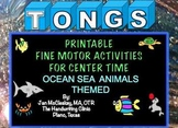 Ocean Sea Animal Tongs Fine Motor Labs for Center Time or TherapyA