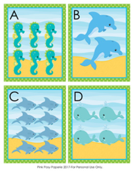 Ocean Sea Animals Count the Room