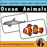 Ocean Sea Animals Flash Cards, Activities, and Games for E