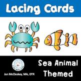 Ocean Sea Animals LACING CARDS!  For Fine Motor Skills!