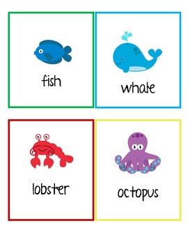 Ocean Sea Animals Write the Room