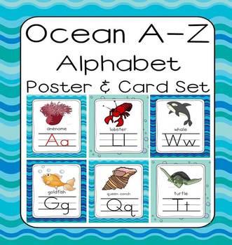 Ocean & Sea Life A-Z Poster Set