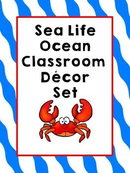 Ocean Sea Life Classroom Theme Decor  (Number Line, Behavior Chart & More!}