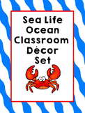 Ocean Sea Life Classroom Theme Decor  (Number Line, Behavi