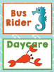 Ocean / Sea Life Themed Classroom Decor:  Editable Go Home Signs