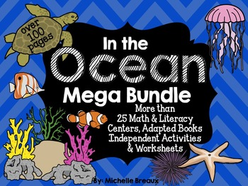 Ocean & Sea Life Unit Math and Literacy Activities {special education, autism}