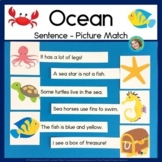 Ocean sentence picture match reading center