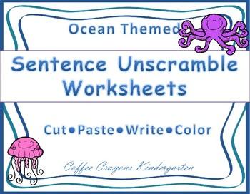 Ocean Sentence Unscramble