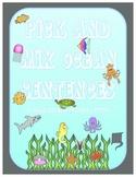 Ocean Themed Sentences: Building Sentences w/ Vocabulary Words