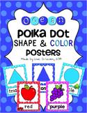 Ocean Shape & Color Posters - Polka Dot