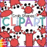 Ocean Shapes Clipart -  Crab Shapes - Crab Clip art - Moveable!