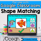Ocean Shapes Math Centers for Google Classroom Distance Learning