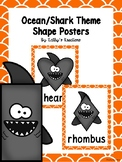 Ocean 2D Shape Posters (Orange Trim)