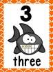 Ocean Number Posters 0-10 (Orange Fish Scale Trim)